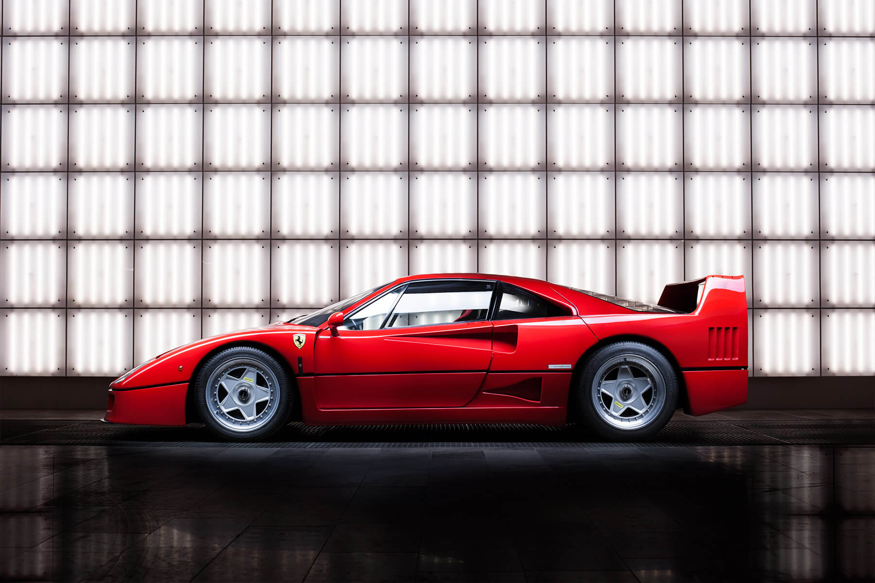Studio shot of a Ferrari F40