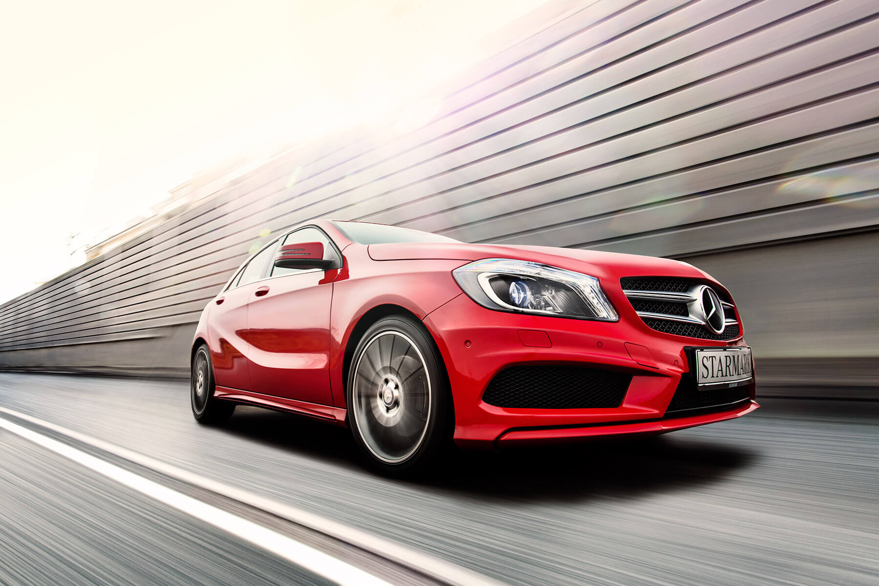 Red Mercedes Benz A250 - Starmark