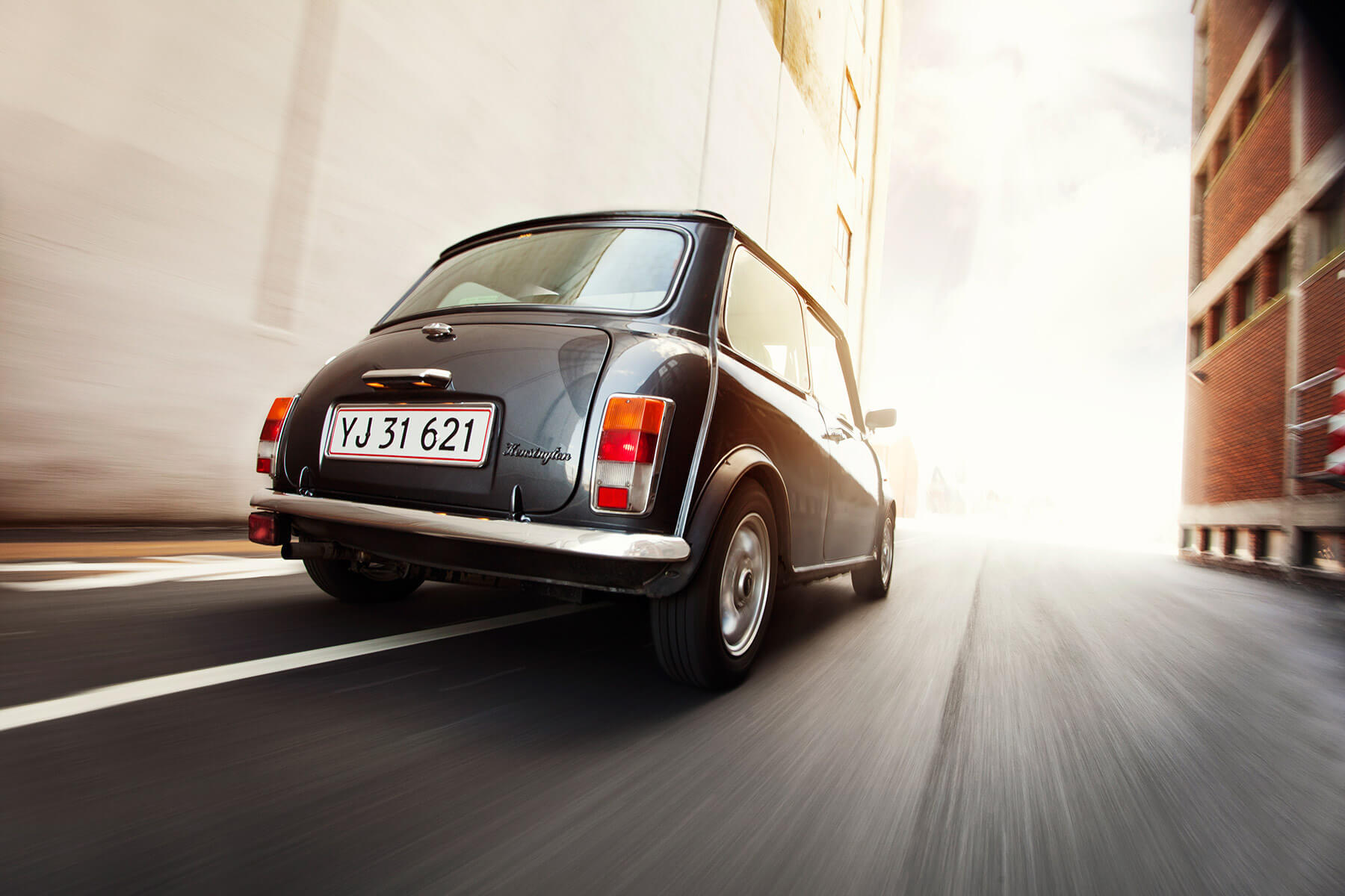 Danish classic Rover Mini rear 01