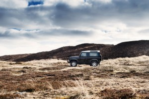 Land Rover Defender in rough terrain