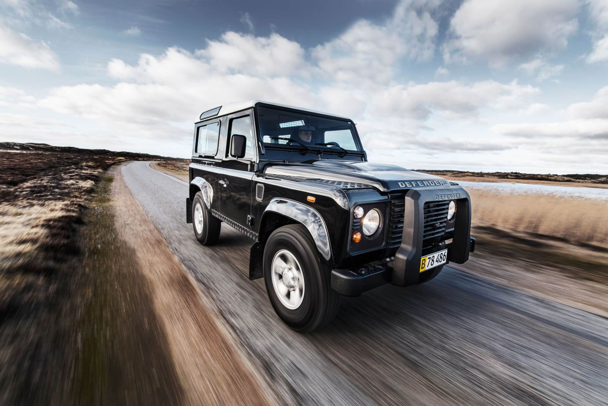 Land Rover Defender road shot