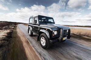 Land Rover Defender road shot