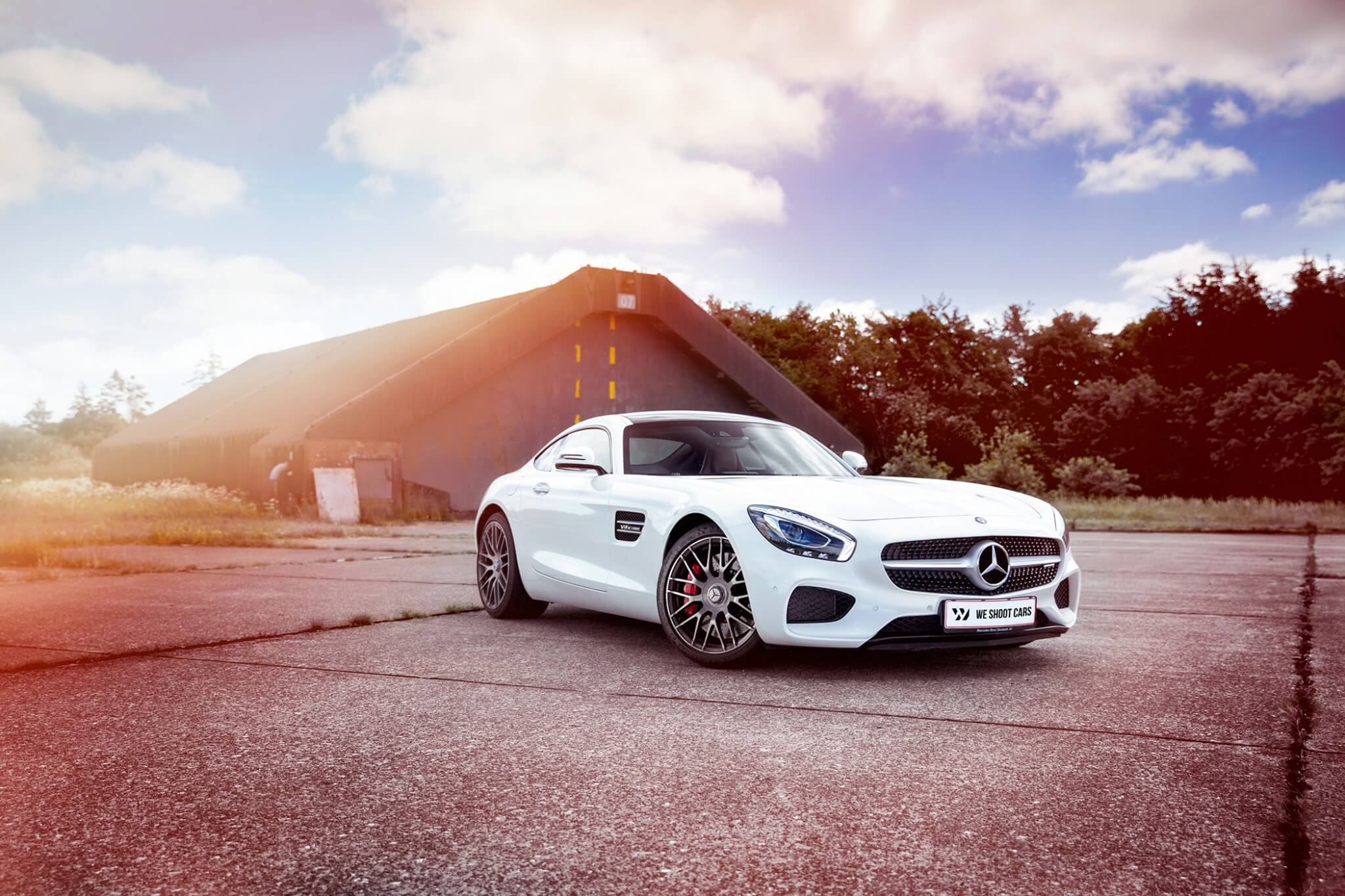 White Mercedes-Benz AMG GT