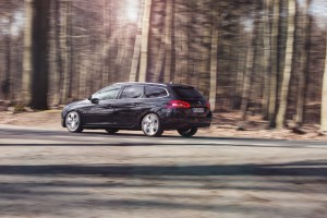 Forest shot of Peugeot 308 SW